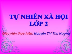 Gio vin thc hin Nguyn Th Thu Hng