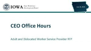 June 26 2020 CEO Office Hours Adult and