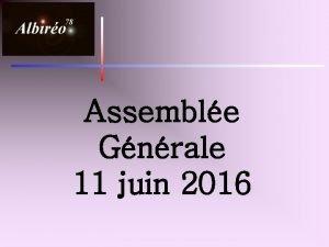Assemble Gnrale 11 juin 2016 Les effectifs 2015
