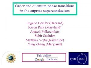 Order and quantum phase transitions in the cuprate