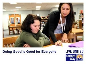 Doing Good is Good for Everyone Agenda v