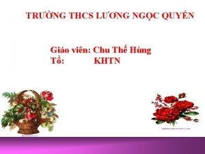 TRNG THCS LNG NGC QUYN Gio vin Chu
