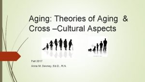 Aging Theories of Aging Cross Cultural Aspects Fall