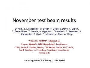 November test beam results D Atti T Alexopoulos