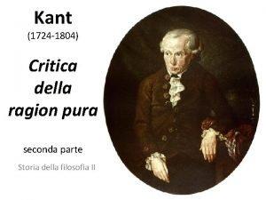 Kant 1724 1804 Critica della ragion pura seconda