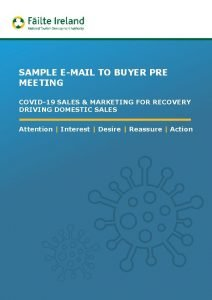 SAMPLE EMAIL TO BUYER PRE MEETING COVID19 SALES
