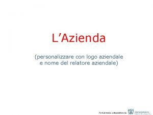 LAzienda personalizzare con logo aziendale e nome del