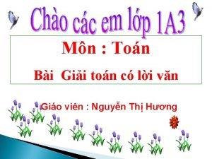 Mn Ton Bi Gii ton c li vn
