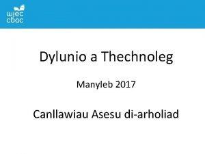 TGAU DYLUNIO A THECHNOLEG Dylunio a Thechnoleg a