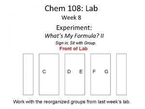 Chem 108 Lab Week 8 Experiment Whats My