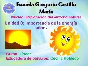 Escuela Gregorio Castillo Marn Ncleo Exploracin del entorno