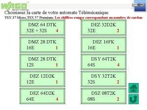 Choisissez la carte de votre automate Tlmcanique TSX