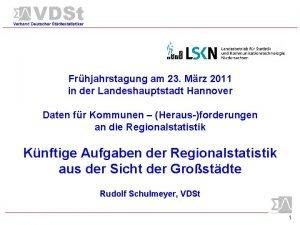 Frhjahrstagung am 23 Mrz 2011 in der Landeshauptstadt