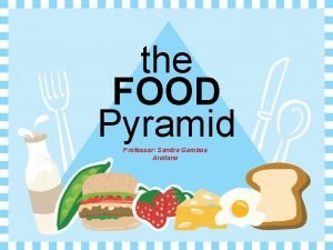 the FOOD Pyramid Professor Sandra Gamboa Arellano Eating