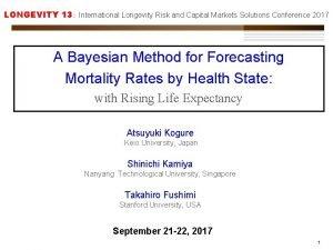 LONGEVITY 13 International Longevity Risk and Capital Markets