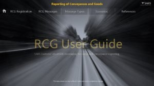 Reporting of Conveyances and Goods RCG Registration RCG