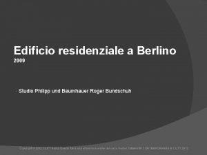 Edificio residenziale a Berlino 2009 Studio Philipp und