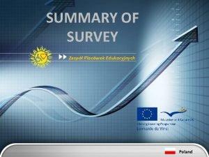 SUMMARY OF SURVEY Zesp Placwek Edukacyjnych Poland SUMMARY