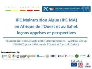 IPC Malnutrition Aigue IPC MA en Afrique de