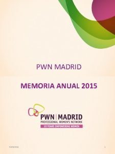PWN MADRID MEMORIA ANUAL 2015 03032021 1 NDICE