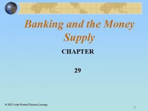 Banking and the Money Supply CHAPTER 29 2003