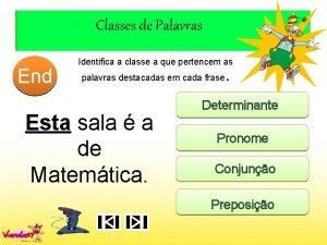 Classes de Palavras End 10 1 2 3