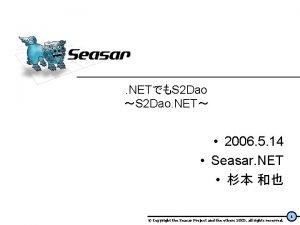 NETS 2 Dao S 2 Dao NET 2006