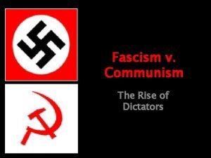 Fascism v Communism The Rise of Dictators Where