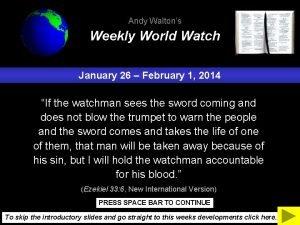Andy Waltons Weekly World Watch January 26 February