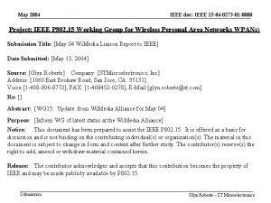 May 2004 IEEE doc IEEE 15 04 0273