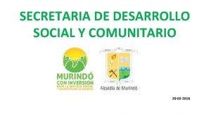 SECRETARIA DE DESARROLLO SOCIAL Y COMUNITARIO 20 02