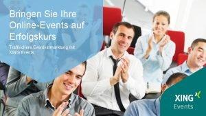 Bringen Sie Ihre OnlineEvents auf Erfolgskurs Treffsichere Eventvermarktung