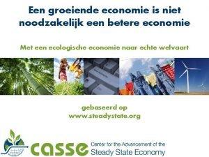 Een groeiende economie is niet noodzakelijk een betere