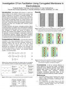 Investigation Of Ion Facilitation Using Corrugated Membrane In
