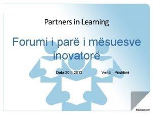 Forumi i par i msuesve inovator Data 20