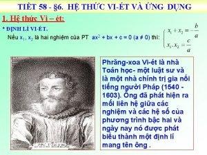 TIT 58 6 H THC VIT V NG