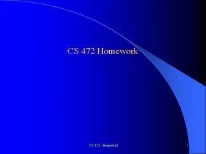 CS 472 Homework CS 472 Homework 1 Perceptron