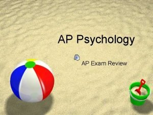 AP Psychology AP Exam Review Introduction to Psychology