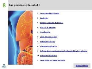 8 Las personas y la salud I 1
