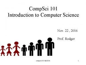 Comp Sci 101 Introduction to Computer Science Nov