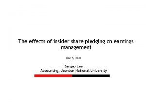 The effects of insider share pledging on earnings
