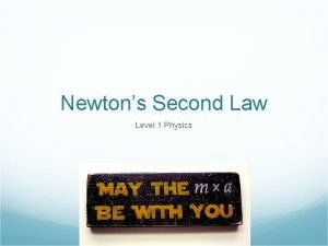 Newtons Second Law Level 1 Physics Newtons Second