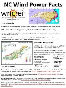 NC Wind Power Facts Wind Appstate Edu Total