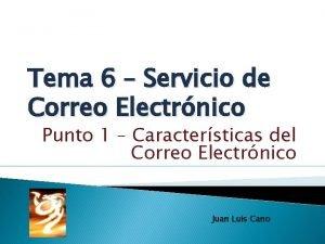 Tema 6 Servicio de Correo Electrnico Punto 1