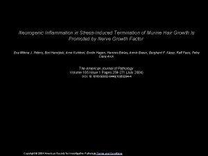 Neurogenic Inflammation in StressInduced Termination of Murine Hair