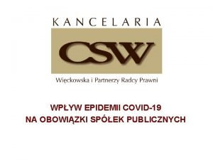 WPYW EPIDEMII COVID19 NA OBOWIZKI SPEK PUBLICZNYCH COVID19