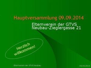 Hauptversammlung 09 2014 Elternverein der GTVS NeubauZieglergasse 21