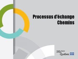 Processus dchange Chemins Processus dchange entre le MFFP