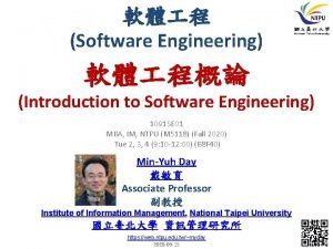 Software Engineering Introduction to Software Engineering 1091 SE