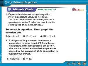 Over Lesson 2 5 Over Lesson 2 5